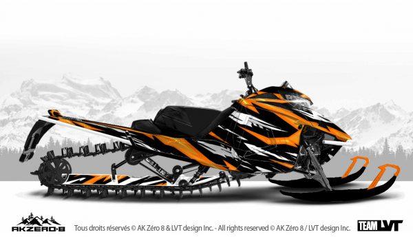 Kit graphique pour motoneige Arctic-Cat - Design de couleur orange