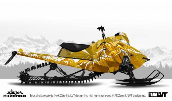 Kit graphique pour motoneige Polaris - Design de couleur golden doré